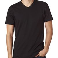 Adult 4.5 oz., 100% Ringspun Cotton nano-T® V-Neck T-Shirt Thumbnail
