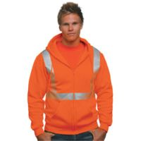 Hi-Visibility Full Zip Hooded Sweatshirt Thumbnail