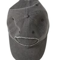 Pigment-Dyed Raw-Edge Patch Baseball Cap Thumbnail