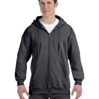 Adult 9.7 oz. Ultimate Cotton® 90/10 Full-Zip Hood Thumbnail