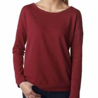 Ladies' French Terry Long-Sleeve Scoop Thumbnail