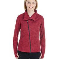 Ladies' Amplify Mélange Fleece Jacket Thumbnail
