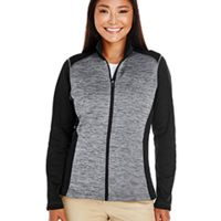 Ladies' Newbury Colorblock Mélange Fleece Full-Zip Thumbnail