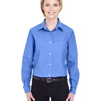 Ladies' Long-Sleeve Performance Pinpoint Thumbnail