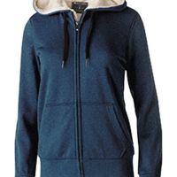 Ladies' Polyester Fleece Full Zip Hooded Artillery Sherpa Jacket Thumbnail