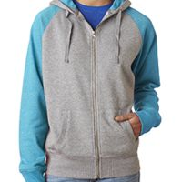 Ladies' Glitter French Terry Contrast Full-Zip Hood Thumbnail