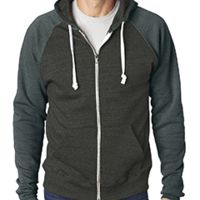 Adult Triblend Colorblock Full-Zip Fleece Hood Thumbnail