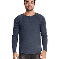Men's Triblend Long-Sleeve Henley Thumbnail