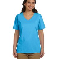 Ladies' 6.1 oz. Tagless® V-Neck T-Shirt Thumbnail