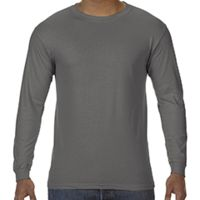 5.5 oz. Ringspun Garment-Dyed Long-Sleeve T-Shirt Thumbnail