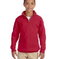 Youth 8 oz. NuBlend® Quarter-Zip Cadet Collar Sweatshirt Thumbnail