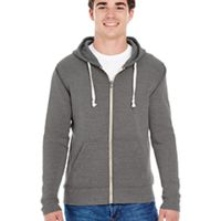 Adult Triblend Full-Zip Fleece Hood Thumbnail