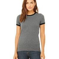 Ladies' Jersey Short-Sleeve Ringer T-Shirt Thumbnail