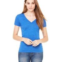 Ladies' Triblend Short-Sleeve Deep V-Neck T-Shirt Thumbnail