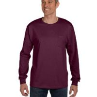 Men's 6.1 oz. Tagless® Long-Sleeve Pocket T-Shirt Thumbnail