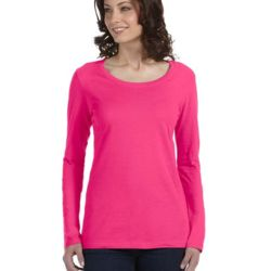 Ladies' Featherweight Long-Sleeve Scoop T-Shirt Thumbnail