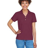 Ladies' Pima Piqué Short-Sleeve Y-Collar Polo Thumbnail