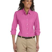 Ladies' Perfect Fit™ 3/4-Sleeve Stretch Poplin Blouse Thumbnail