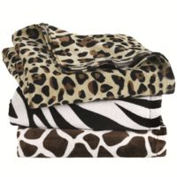 Animal Print Velour Beach Towel Thumbnail