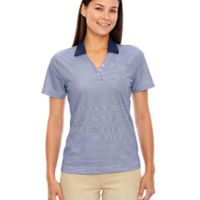 Ladies' Eperformance™ Launch Snag Protection Striped Polo Thumbnail