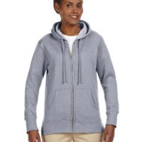 Ladies' 7 oz. Organic/Recycled Heathered Fleece Full-Zip Hood Thumbnail