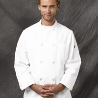 Button Chef Coat with Thermometer Pocket Thumbnail