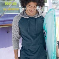 Yarn-Dyed Raglan Hooded Pullover Thumbnail