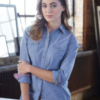 Vintage Women's Chambray Long Sleeve Shirt Thumbnail