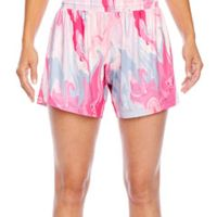 Ladies' Tournament Sublimated Pink Swirl Short Thumbnail