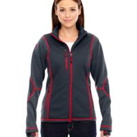 Ladies' Pulse Textured Bonded Fleece Jacket with Print Thumbnail