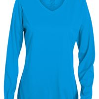 Ladies' Wicking Long-Sleeve T-Shirt Thumbnail