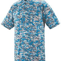 Youth Polyester Digi Print Two-Button Short-Sleeve Jersey Thumbnail