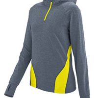 Ladies Wicking Brushed Back Poly/Span Quarter-Zip Hoody Thumbnail