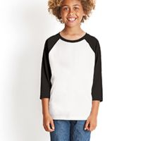 Youth CVC 3/4-Sleeve Raglan Thumbnail