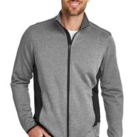 Full Zip Heather Stretch Fleece Jacket Thumbnail