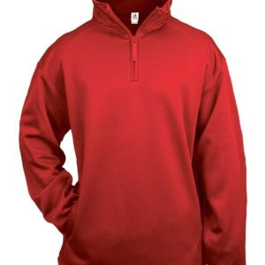 Youth Quarter Zip Poly Fleece Pullover Thumbnail
