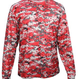 Digital Camo Youth Long Sleeve T-Shirt Thumbnail