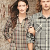 Vintage Women's Burnout Flannel Shirt Thumbnail