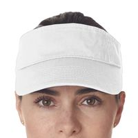 Adult Classic Cut Chino Cotton Twill Visor Thumbnail