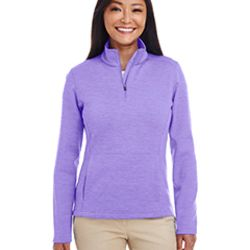 Ladies' Newbury Mélange Fleece Quarter-Zip Thumbnail