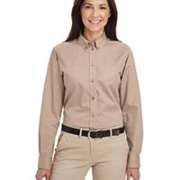Ladies' Foundation 100% Cotton Long-Sleeve Twill Shirt with Teflon™ Thumbnail