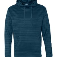 Adult Odyssey Striped Poly Fleece Pullover Hood Thumbnail