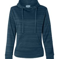 Ladies' Odyssey Striped Poly Fleece Lapover Hood Thumbnail