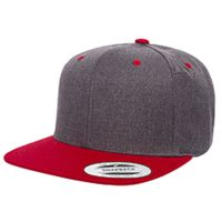 Adult 6-Panel Structured Flat Visor Classic Two-Tone Snapback Thumbnail