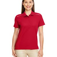 Ladies' Radiant Performance Piqué Polo with Reflective Piping Thumbnail