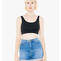 Ladies' Cotton Spandex Crop Tank Thumbnail