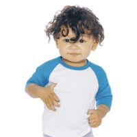 Infant Poly-Cotton 3/4 Sleeve Raglan T-Shirt Thumbnail