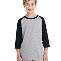Youth 5.3 oz. 3/4-Raglan Sleeve T-Shirt Thumbnail