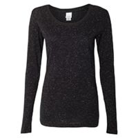 Ladies' Glitter Long-Sleeve T-Shirt Thumbnail
