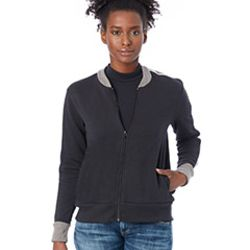 Ladies' Squad Vintage French Terry Bomber Jacket Thumbnail
